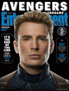 Steve Rogers played by Chris Evans on Entertainment Weekly's new magazine covers in preparation for Avengers Endgame! The Avengers, The Original Avengers, Avengers Quotes, Avengers Imagines, Entertainment Weekly, Marvel Entertainment, Steve Rogers, Mark Ruffalo, Jeremy Renner