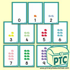 Number Shapes 0 to 10 - Maths Resources - Foundation Phase - Primary Treasure Chest Maths Eyfs, Numeracy Activities, Teaching Activities, Sensory Activities, Math Resources, Teaching Ideas, Activities For Kids, Maths Display, Numicon