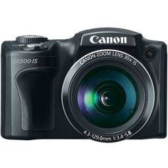 Canon PowerShot SX500 IS 16.0 MP Digital Camera with 30x Wide-Angle... ($194) ❤ liked on Polyvore featuring camera, fillers, electronics, accessories and other