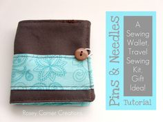 Rosey Corner Creations: Pins and Needles: A travel sewing kit, gift idea T...