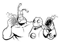 Tick and Robo Funny Sexy, Invader Zim, Ticks, Comic Art, Nerd, Superhero, Comics, Spoon, Artist