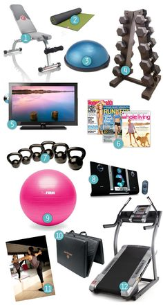 list—the ultimate home gym « Fitness « already have a few of these items.add a punching bag and I'd be set! Lolwish list—the ultimate home gym « Fitness « already have a few of these items.add a punching bag and I'd be set! Workout Room Home, Gym Room At Home, Home Gym Decor, Workout Rooms, Exercise Rooms, Apartment Workout, House Workout, Workout Room Decor, Home Gym Garage
