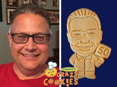 A happy 50th birthday is even HAPPIER with the addition of Parker's Crazy Cookies of the birthday boy! Party favors were never more clever or special.