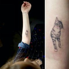 Cute cat tattoo. #cat #tattoo
