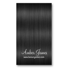 Long Wavy Gray 3 Hair Colorist Business Card