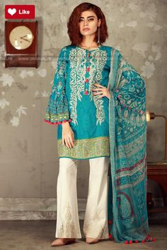 Khaadi Mid Summer 2017 Price in Pakistan famous brand online shopping, luxury embroidered suit now in buy online & shipping wide nation. Pakistani Fashion Casual, Pakistani Outfits, Indian Fashion, Pakistani Frocks, Women's Fashion, Casual Dresses For Women, Clothes For Women, Stylish Dresses, Fashion Dresses