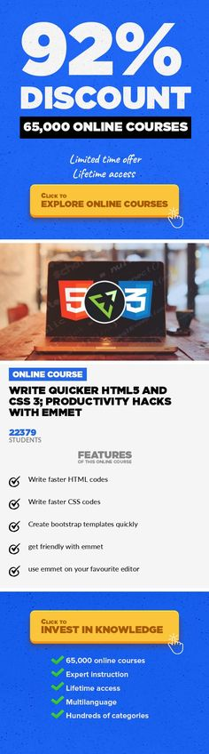 Write quicker HTML5 and CSS 3; productivity hacks with emmet Web Development, Development #onlinecourses #onlinelessonsfun #onlinelearningdesign  Change the way to write HTML 5 and CSS 3 codes. A faster way that will increase your productivity to write codes Hello everyone and welcome to Write quicker HTML5 and CSS 3; productivity hacks with emmet. Before we even begin to talk about this course, l...
