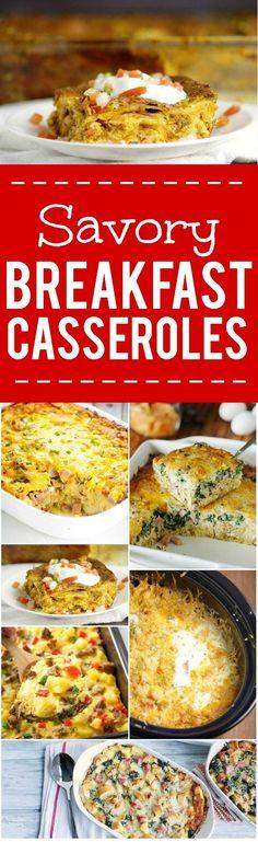 44 Savory Breakfast Casserole Recipes -44 of the BEST Savory Breakfast…