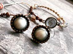 bracelet & earrings #bracelethandmade  #music  #musicnotes  #solkey  #braceletmacrame  #bracelets  #browncolors  #macramejewelry  #macramebracelet  #macrameaccessories  #handmadewithlove  #handmadestyle  #handmadebracelet  #earringfashion  #earrings  #uniquebracelet  #uniquejewelry  #autumnshopping #bohostyle  #bohomacramé  #bohoearrings  #bohobracelets  #fashionjewelry  #accessories  #plexiproject  #greekjewelry #instagreece  #instajewellery Unique Bracelets, Handmade Bracelets, Unique Jewelry, Boho Earrings, Fashion Earrings, Fashion Jewelry, Macrame Jewelry, Macrame Bracelets, Greek Jewelry