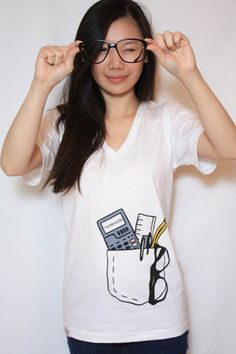 Smart Pocket tee!  Get yours at:  http://thinkhead.myshopify.com/collections/frontpage/products/smart-pocket-white-v-neck-t-shirt