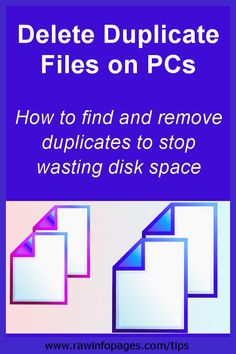 Find and delete duplicate files on Windows PC to save space Computer Diy, Computer Internet, Computer Repair, Technology Hacks, Computer Technology, Computer Programming, Windows 10 Hacks, Computer Troubleshooting, Android Phone Hacks