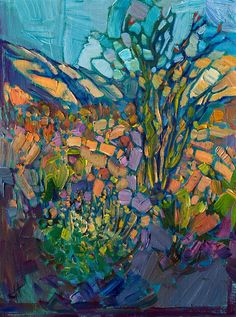 Contemporary impressionist oil painting of Borrego Springs, by Erin Hanson