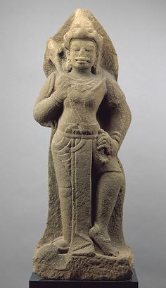 Standing Shiva or temple guardian (dvarapala), ca. first half of 10th century; Cham style of Khoung My or Mi Son  Vietnam (Champa)  Stone; H. 50 1/2 in. (128.3 cm)