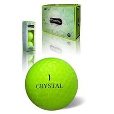 Crystal Golf Balls feature a unique semi-transparent two piece construction to provide both outstanding distance and exceptional soft feel. The true 70 low compression enhanced core produces substanti
