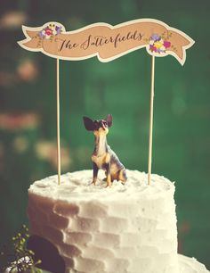Custom Wedding Cake Topper By Ready Go Co These Colors And Chihuahua Photography Atlanta GA Area Photographer Virginia Reese