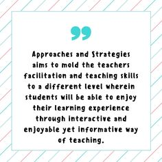 teaching approaches and strategies pdf
