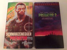 Predator And Predator 2 VHS Lot Schwarzenegger Glover Action Scifi