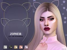 The Sims 4 Zopheir Cat Ear Headband Sims 4 Mods, Sims 4 Game Mods, Sims 4 Cc Skin, Sims Cc, The Sims 4 Bebes, Sims 4 Piercings, The Sims 4 Cabelos, The Sims 4 Packs, Sims 4 Gameplay
