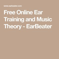 Free Online Ear Training and Music Theory - EarBeater