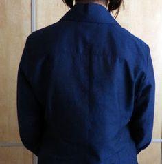 Tutorial para confeccionar una camisa clásica de mujer Turtle Neck, Long Sleeve, Sleeves, Sweaters, Mens Tops, T Shirt, Fashion, Make A Shirt, Paper Piecing