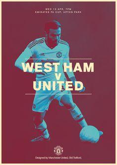 Match poster. West Ham v United, 13 April. Designed by @manutd
