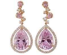 Rose Gold Kunzite Diamond Earrings A Beautiful Frame For Your Face Was Discovered By Frederick Kunz Head Geologist Tiffany