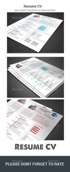 Resume/CV Fashion  Design Pinterest Resume cv, Design resume