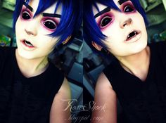 Rose Shock: 2D- Gorillaz fans?! Feel-good! Awesome halloween look!