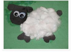 Lamb of God! The Lord is my Shepherd! Draw a lamb and glue cotton balls, great ideas for kids!!