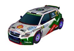 Paper Car Free Download - http://www.papercraftsquare.com/skoda-fabia-s2000-paper-car-free-vehicle-paper-model-download.html