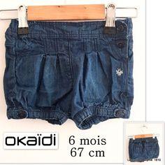 7cb74d06298 Okaidi Short en jean 6 mois 67 cm - ceinture ajustable