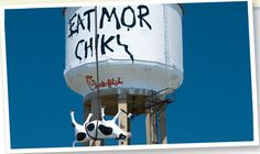 """The Chick-fil-A """"Eat Mor Chikin"""" campaign is simple & funny. They tell a story: cows pitted against chickens for survival--and we're their only hope. The goal is to influence consumers to eat chicken instead of beef.  This cleverly allows Chick-fil-a to compete directly against the majority of fast-food chains, which typically serve burgers, by reaching out to the target market. The Billboard advertisements are effective because they are eye-catching (3D) & inspire sympathy. #IMCexamples"""