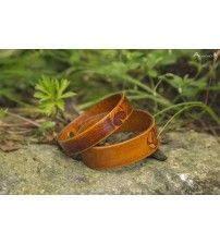 Bracelet leather Alkevich (023) $ 12 Material: leather Size: 16.5 х 1.6 cm and 17.5 х 1 cm (6,4 x 0,6 and 6,8 x 0,39 inch)