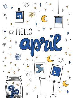 "April Freebie: Bullet Journal Cover Page ""Fireflies & Polaroids"""