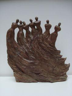 "http://chalang.wordpress.com .""Le bal"" sculpture by Chantal Lang"