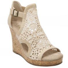 1b7b9d363da85b Crochet platform wedge closed back Sugar Hues Wedge Sandals