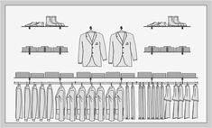 SYSLINE - retail solution - Soportes en Pared - Buttonhole V Interior Design Degree, Retail Interior Design, Retail Store Design, Retail Shop, Visual Merchandising Fashion, Retail Merchandising, Design Display, Visual Display, Shop Layout