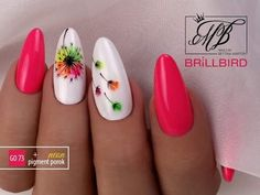 Spring flower nail design Miladies net is part of White Acrylic nails Wedding - Spring flower nail design Miladies net Flower Nail Designs, Flower Nail Art, Nail Designs Spring, Nail Art Designs, Pastel Nail Art, Spring Design, Cute Nails, Pretty Nails, My Nails