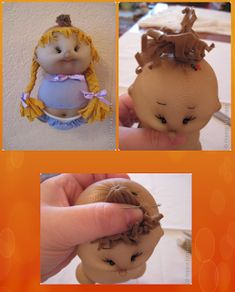 3mara3: Come si fa:....bamboline Diy And Crafts, Crafts For Kids, Arts And Crafts, Sock Dolls, Baby Dolls, Fabric Basket Tutorial, Soft Sculpture, Fabric Dolls, Doll Face
