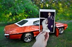 Dear Photograph,  He bought this car when he was just 16. Then one day he drove away with his bride beside him on their wedding day. Thirty-six years later, after many years in storage, my father finished restoring the car and now my parents are thrilled to be driving it all around town once again. They are such a beautiful inspiration to their children & grandchildren and I will always be inspired by that deep love they have for one another. Love, Melinda