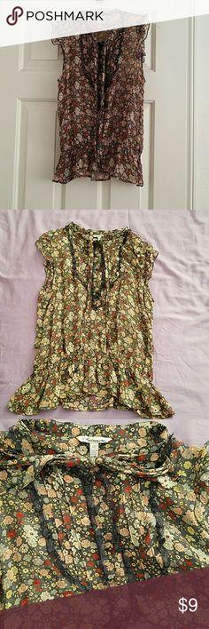 NWOT F21 Floral Sheer Blouse Lovely heritage 1981 floral sheer blouse, brand new! Forever 21 Tops Blouses