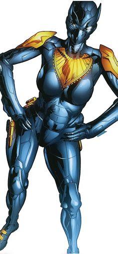 Black Panther (Shuri) (Marvel Comics) (Female) black and gold body armor