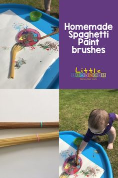Make your very own homemade spaghetti paint brush and mark making tool from a store cupboard essential! The key to encouraging mark making in the early years is to make it a fun and meaningful experience for your little one! It's important to let them enjoy the physical experience of writing and mark making with a variety of materials on different surfaces and mediums. Homemade Spaghetti, Little Learners, Making Tools, Learning Through Play, Mark Making, Paint Brushes, Cupboard, Encouragement, Key