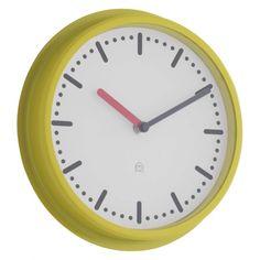 COTTA Yellow metal wall clock
