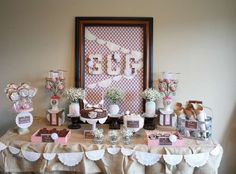 Shabby Chic First Communion/8th Birthday Party | CatchMyParty.com