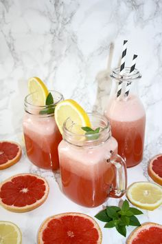 Pink Grapefruit Lemonade - another lovely I Foods, Refreshing Drinks, Quick Recipes