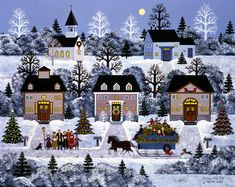 Jane Wooster Scott  —  Holiday Sleigh Ride  (900x715)