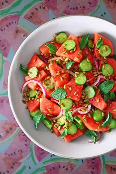 On sweltering summer days, this Mexican Watermelon Salad is like a welcome splash of cool water. Refreshing and sweet, with a punch of spicy pepper and tangy lime, this Whole30-friendly side dish will have you clamoring for more. It's perfect for your barbecues and parties!