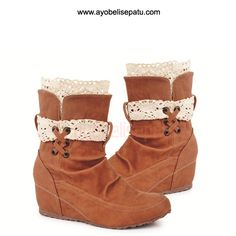 acapulco lace brown boot