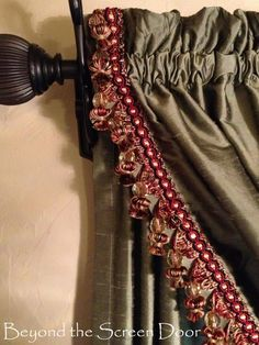 Double Hung Cascading Curtain Panels with Fringe